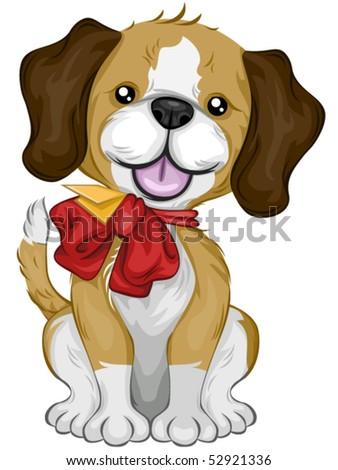 New Puppy - Vector - stock vector