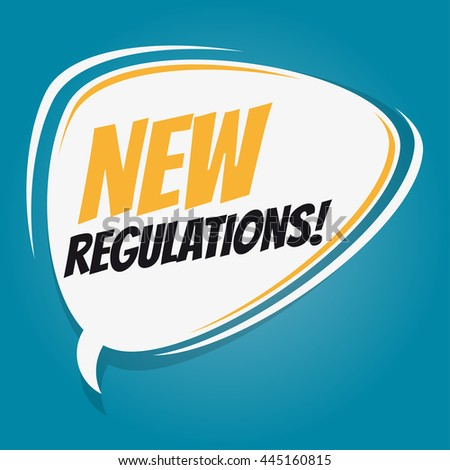 new regulations retro speech bubble - stock vector