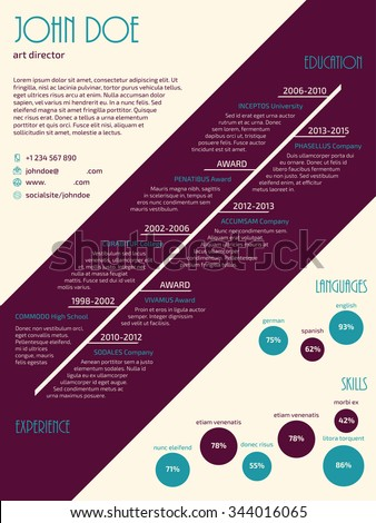 New resume cv curriculum vitae template design for job seekers - stock vector