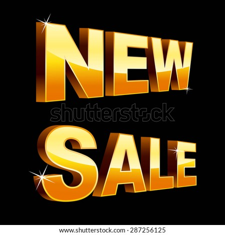 New sale isolated on black - stock vector