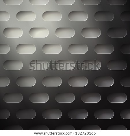 new seamless pattern with metallic perforated grid can use like technology background - stock vector