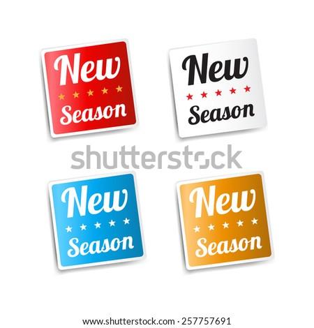 New Season Stickers - stock vector