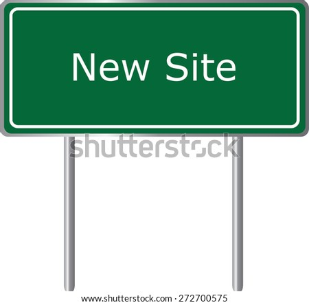 New Site, Alabama, road sign green vector illustration, road table, USA city - stock vector