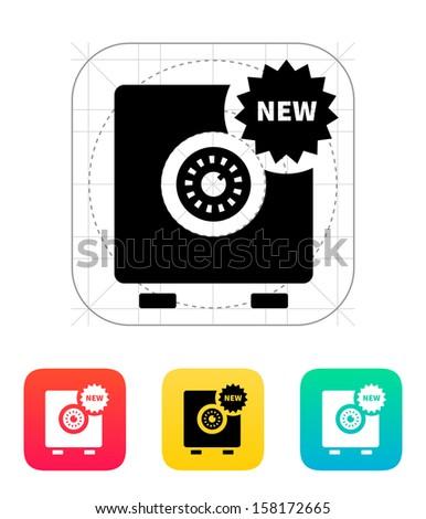 New strongbox icon. Vector illustration. - stock vector