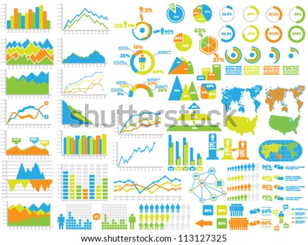 NEW STYLE WEB ELEMENTS INFOGRAPHIC DEMOGRAPHIC TOY - stock vector