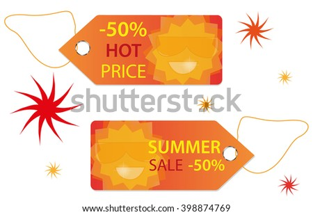 New summer collection labels - stock vector