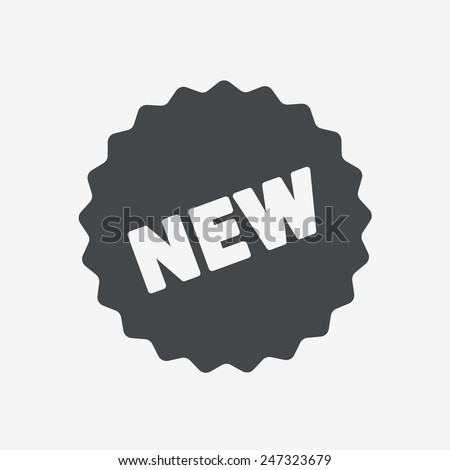 New tag icon. - stock vector