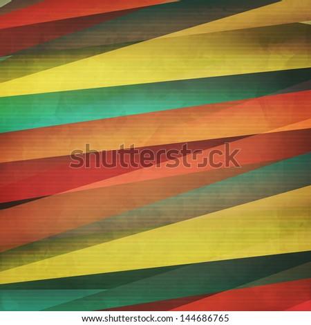 new trendy background with colorful paper stripes can use like modern design - stock vector