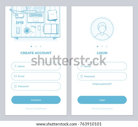 new user account create user login stock vector royalty free