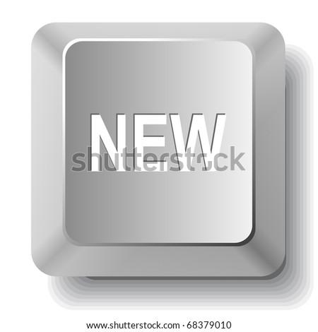 New. Vector computer key. - stock vector