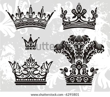 new vector crowns - stock vector
