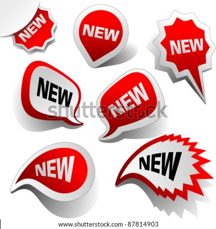 New Vector Labels. Graphic Design Editable For Your Design.  - stock vector