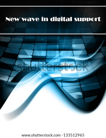 New wave in digital support - stock vector