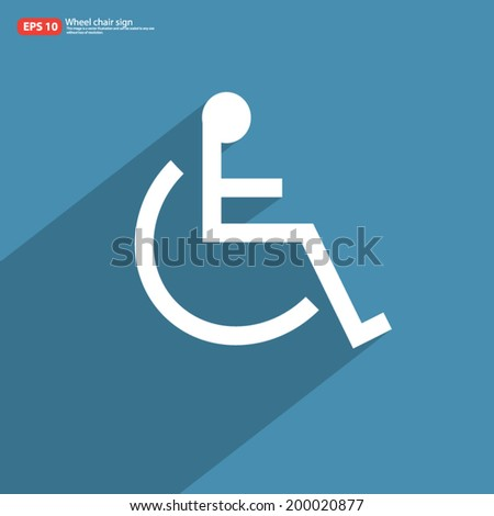 New Wheelchair Sign Shadow On Blue Stock Vector 200020877 Shutterstock