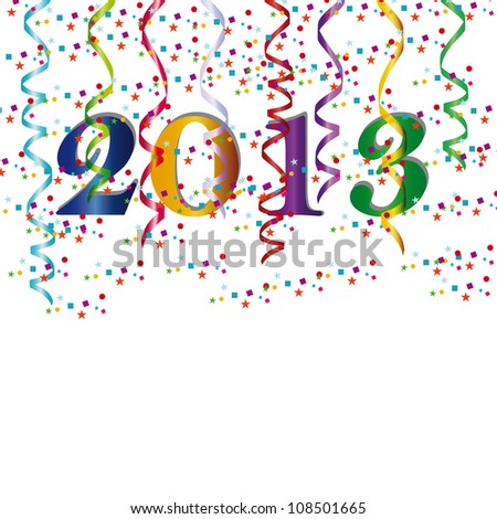 New Year 2013 - stock vector