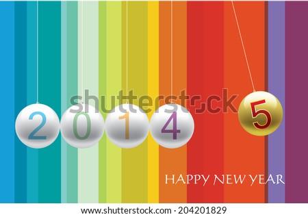 New year 2015 - stock vector