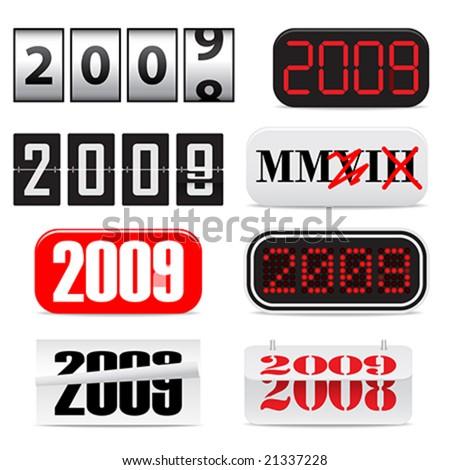 New Year, 2009 - stock vector
