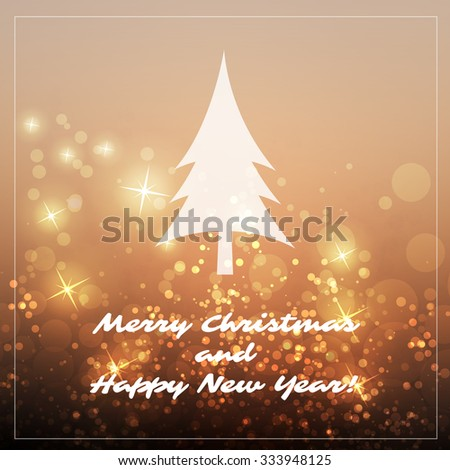 New Year And Christmas Card With A Sparkling Blurred Background - stock vector