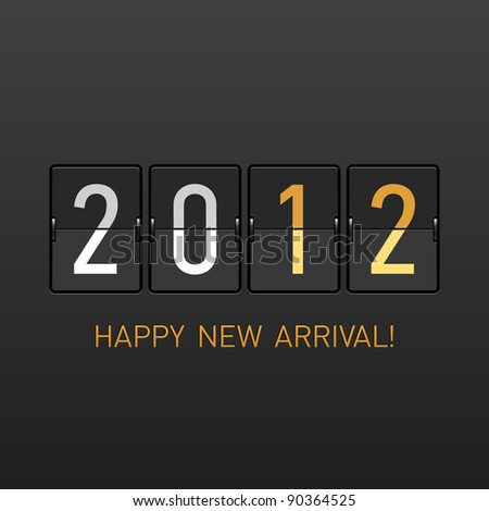 New Year arrival 2012. Vector. - stock vector