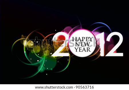 new year 2012  background - stock vector