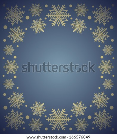 New Year background card with snowflake ,blue
