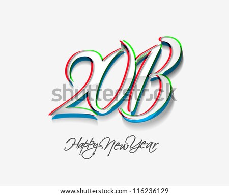 New year 2013 background for new year design. - stock vector