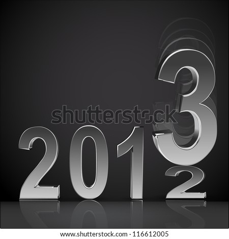 New year 2013 background glossy numbers vector illustration - stock vector