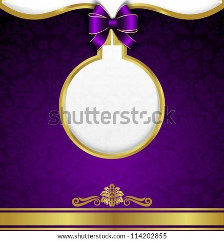 New Year background, gold ribbon - stock vector