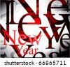 new year background. Vector illustration - stock photo