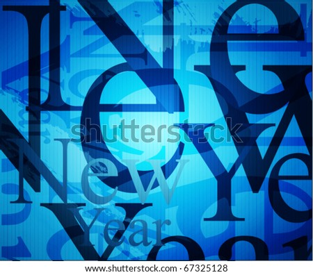 new year background. Vector illustration