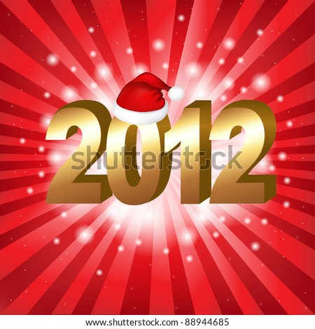 New Year Background, Vector Illustration