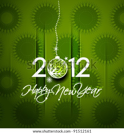 new year 2012 background. Vector illustration - stock vector