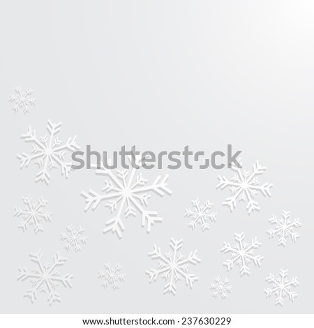 new year background with snowflake, vector version