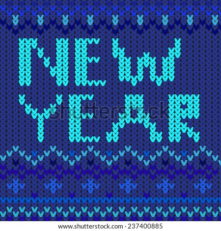 New year blue vector graphic illustration design art