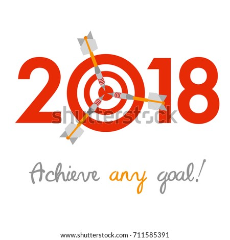 New Year 2017 Business Concept Target Stock Vector ...
