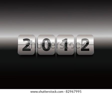 new year calendar - stock vector