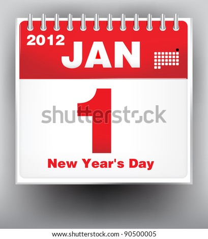 New Year Calendar 2012 - stock vector