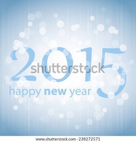 New Year Card 2015 Background - stock vector