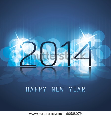New Year Card, Cover or Background Template - 2014 - stock vector