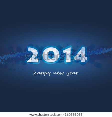 New Year Card, Cover or Background Template - 2014