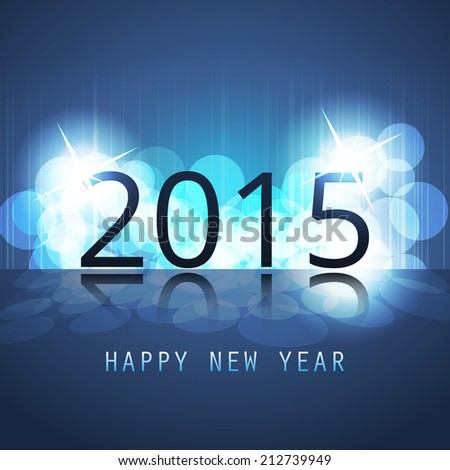 New Year Card, Cover or Background Template - 2015 - stock vector