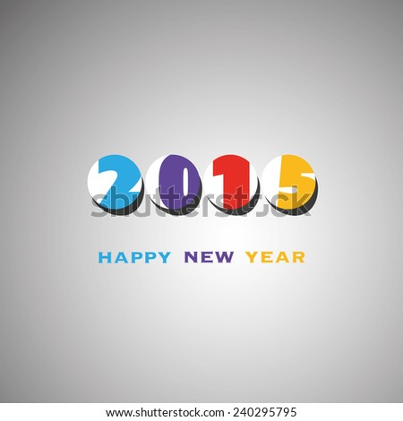 New Year Card Template - 2015 - stock vector