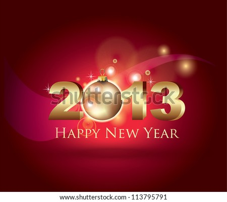 New Year Celebration Card - stock vector