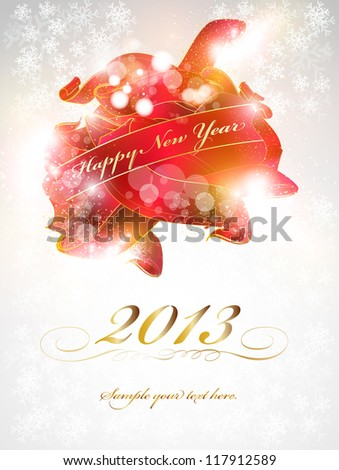 New Year Celebration Card, easy editable, eps10 - stock vector