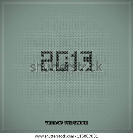 New year conceptual illustration with snake game - stock vector