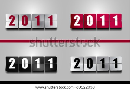 New 2011 Year counter - stock vector