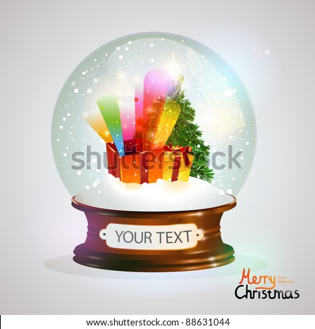 New year crystal ball. - stock vector