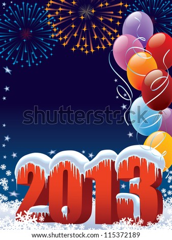 New Year 2013 decoration with copy space for your message - stock vector