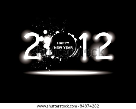 New year 2012 design. - stock vector