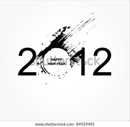 New year 2012 design - stock vector